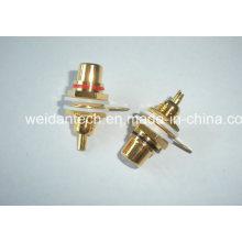 Gold Plated RCA Plug Keystone