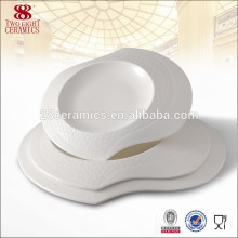 Bone china airline dinnerware tableware white ceramic plates india