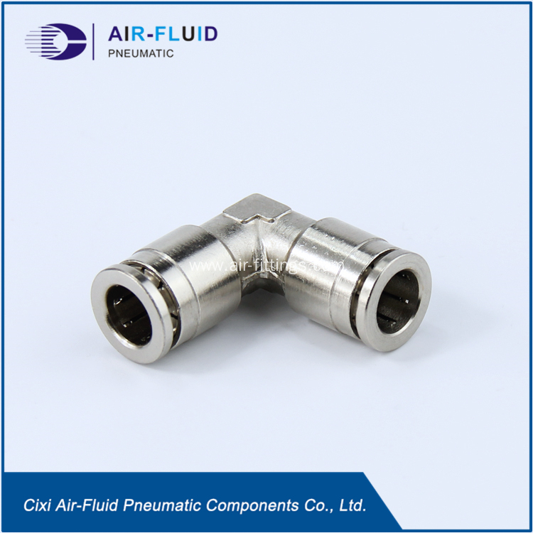 China air fluid pneumatic metal equal elbow connect