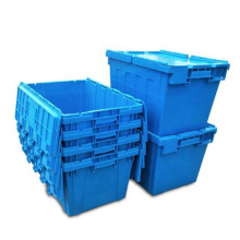 Logistic Storage TurnoverPlasticMovingCrateWith Lid for Sale