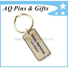 Porte-clés en bronze avec 1c émaillage doux