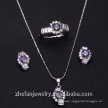 Gold plated Jewelry Set zircon gemstone wedding jewelry set