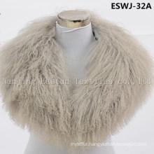 Long Pile Natural Mongolian Fur Scarf Eswj-32A