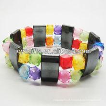 01B5008 / novos produtos para 2013 / hematita spacer pulseira de jóias / bracelete de hematita / pulseiras de saúde hematita magnética