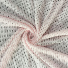 Pink Tencel cotton mesh hole Jacquard fabric