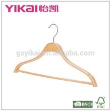 Camisa redonda barata colgador de ropa laminada con muescas y tubo de PVC
