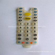 Gummi-Silikon-Tastatur mit Epoxidharz-Beschichtung Schlüsselabdeckung