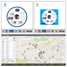 Software del sistema del perseguidor del vehículo del GPS con APP GS102