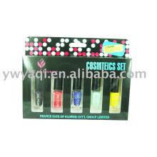 conjunto de cosméticos esmaltes dom