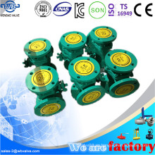Tipo L Válvula de bola de tres vías con extremos bridados
