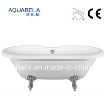 2016 New Style CE Approved Acrylic Chawfoot Bathtubs with Legs