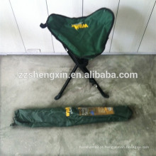 Cadeiras de pesca de acampamento de aço portátil de tubo de aço