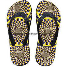 Les plus populaires 3D Impression Casual Flip Flop Slipper Chaussures (FF68-15)