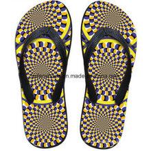 Самые популярные 3D печать повседневный флип-флоп тапочки обувь (FF68-15)