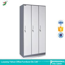 Завод прямого дешево 3 двери стальная живущей комнаты конструкции шкафа с ценой