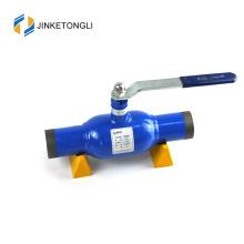 Válvula de bola soldada con autógena fija de alta calidad del tornillo sin fin DN500