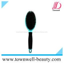 Cepillo de cepillo de cerda mixta profesional de cerda para el cabello con función iónica y resistente al calor