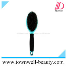 Prateleira profissional de almofada de cerdas de javali misturado escova para cabelo com função iónica e resistente ao calor