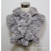 Lady Fashion Polyester Velvet Fur Lace Scarf with Diamonds (YKY4365B-4)