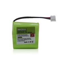 Batería recargable de la célula de botón de NiMH 2.4V para los metros / el teléfono sin cuerda
