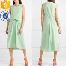 Mais recente projeto 2019 mangas verde vestido de verão midi manufatura atacado moda feminina vestuário (ta0302d)
