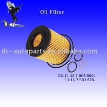 Cartucho de filtro de aceite Element 11 42 7 508 969 para BMW