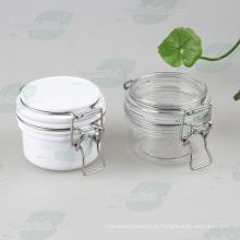 Branco hermeticamente Pet Kilner Jar com aço inoxidável (PPC-33)