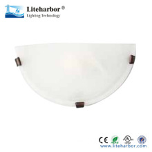 e26 12 inch glass cover halogen 60w 1 light wall sconce