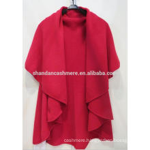 New lady's Cashmere knit poncho factory sale