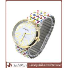 Рекламные Леди кварцевые наручные часы с большой лицо