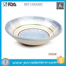 Superventas círculos concéntricos placa de cerámica