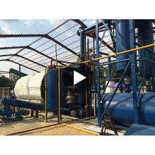 Rendement élevé d'huile déchet économique pyrolyse en plastique recyclage usine de mazout