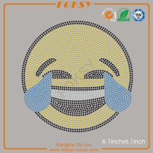 Face With Tears of Joy Emoji rhinestone heat transfer