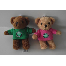 Couples teddy bear standing boutique key chain