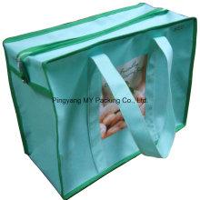 Geschenk Polypropylen Non-Woven Stoff Zipper Verpackung Shop Tasche