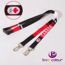 National fine flag neck strap with safety buckle
