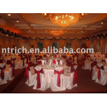 Satin chair cover,Banquet/fotel chair cover,satin sash
