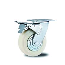 Сверхмощный тормозной ролик, белый полипропилен и крышка
