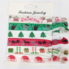Women′s Prints Elastic Hair Ties (HEAD-331)