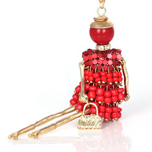 Beautiful fashion doll alloy pendant necklace for ladies