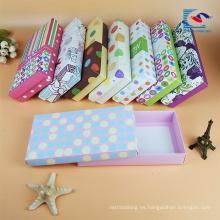 caja de empaquetado de la ropa interior de papel rígida de lujo del diseño de encargo