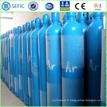 Cylindre sans couture à haute pression d'argon d'acier de 40L (ISO9809-3)
