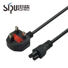 SIPU hohe qualität standard kupfer wasserdicht uk ac stromkabel 3 pin stecker