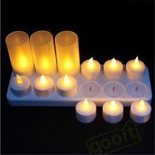 12pcs / set recargable led velas de luz de té