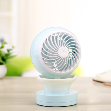 Portable Crystal Small Fan Bedroom LED-lampen