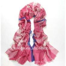 2012 Frühling 100% Wolle Tartan Plaid lange pashmina rosa Schals