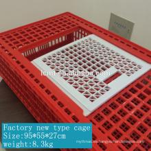 La nueva jaula de plástico para transporte de pollos con un peso de 8.3kg
