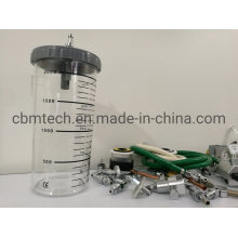 New Safety Jar Medical Suction Jars Devices as Hospital Suction Unit