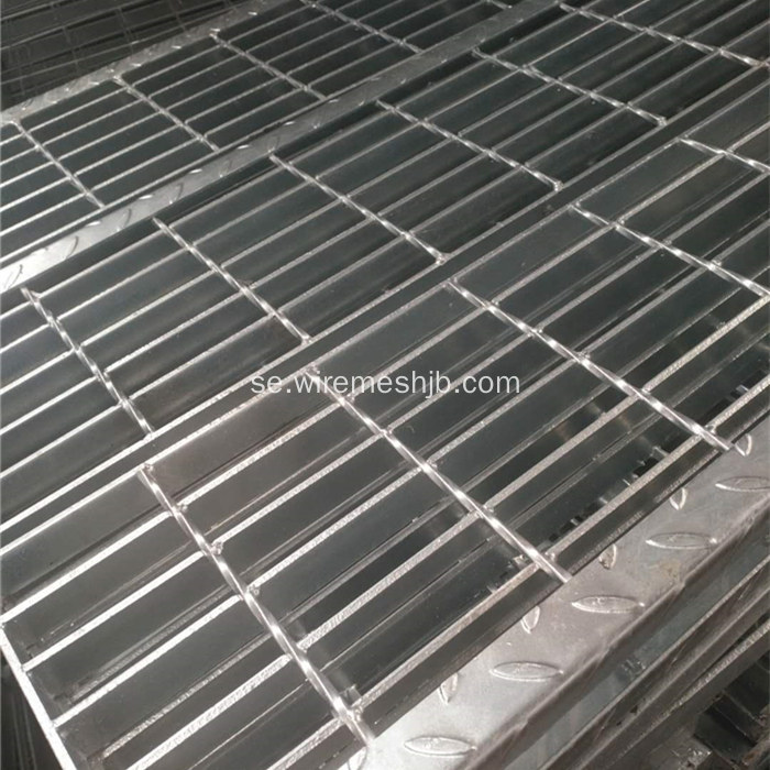 Hot-dip galvaniserad Steel Bar Grating Stair Treads