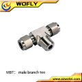 3 way copper elbow threads stainless steel compression gas fitting